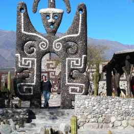 Amaicho del Valle, Museo Pachamama: one of the large concrete and natural stone sculptures