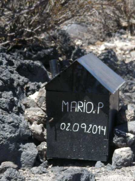 Some shrines can be as plain and simple as this little black box, seen near Ruta 40 in Argentina.