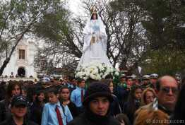 The procession in honour of Nuestra Señora de la Merced. Here she is.