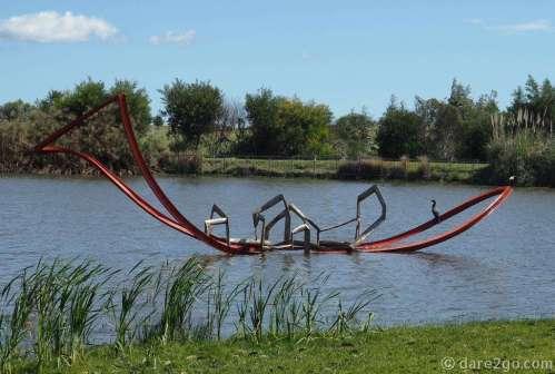 """Pablo Atchugarry sculpture park: """"Il Viaggio"""" by Eduard Habicher, 2011"""