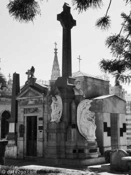 La Recoleta cemetery in Buenos Aires: a mix of grave site styles - but one as elaborate as the next.