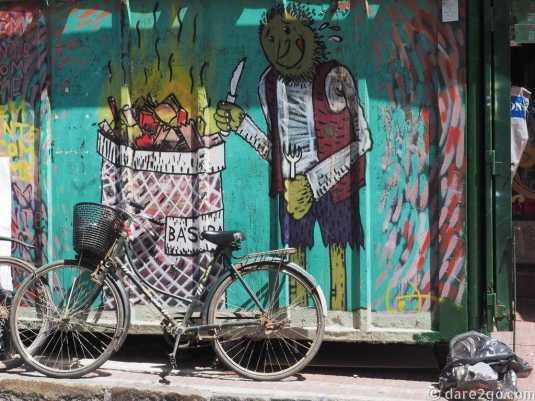 StreetArt San Telmo: newspaper kiosk – one man's trash is another man's...