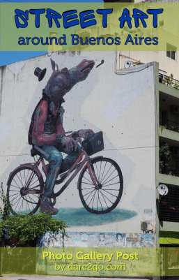 StreetArt in Argentina: a gallery of colourful pieces photographed in Buenos Aires and Gualeguaychu. A multi-storey piece on the side of a house along Av. Independencia in San Telmo