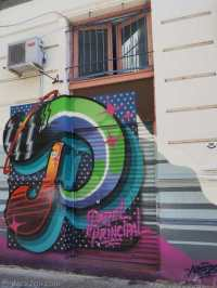 StreetArt San Telmo: a colourful, very professional looking shop front