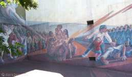 StreetArt in Buenos Aires: part of a very formalised piece on the corner of Avenida Paseo Colon