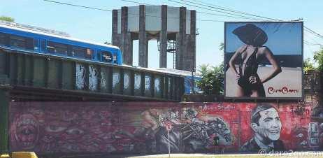 StreetArt in Buenos Aires: a bridge overpass in Palermo, Avenida del Libertador