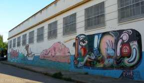 StreetArt in Argentina: a long wall in Gualeguaychu. I was rather intrigued by some of the detail in this piece.