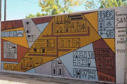 San Gregorio: a finely executed graphic mural