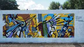 Murals in San Gregorio: a real splash of colour on this wall