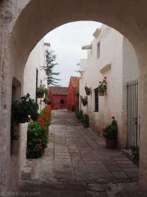 So many photogenic vistas inside the Santa Catalina convent - here in white and red.