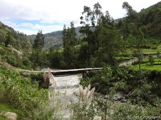 One of the 'trustworthy' bridges which connects to small villages on the other side of the river.