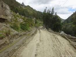 One of the many, recently cleared mud slides.