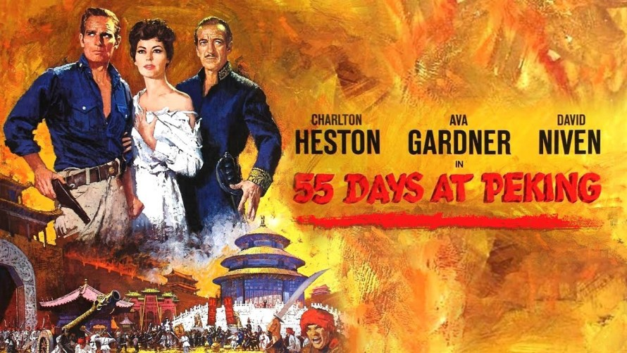 55 Days at Peking poster