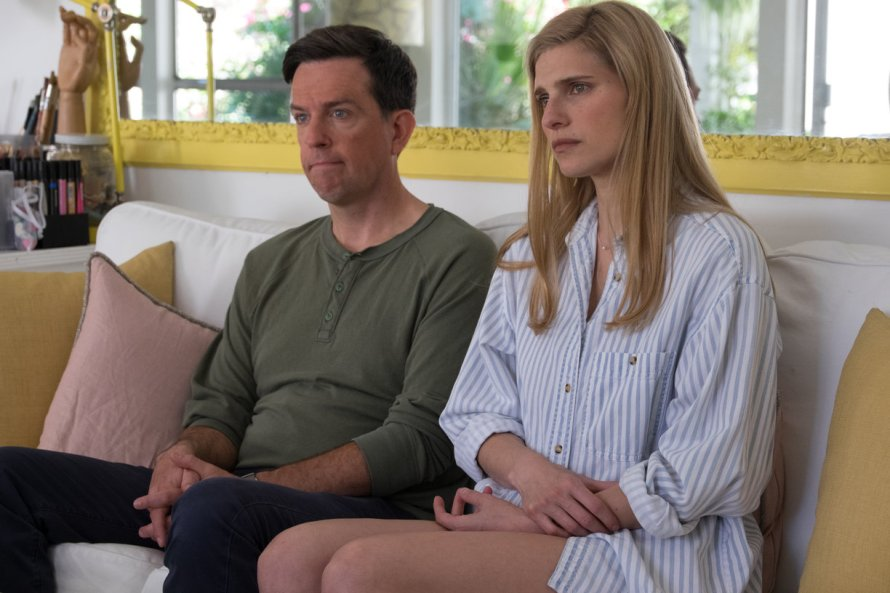 Ed Helms and Lake Bell in I Do...Until I Don't