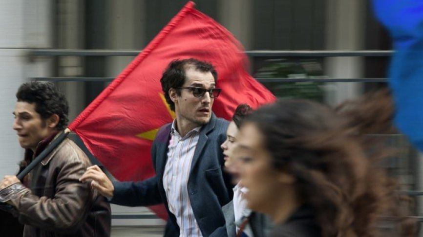 Louis Garrel as Jean-Luc Godard in Godard mon Amour