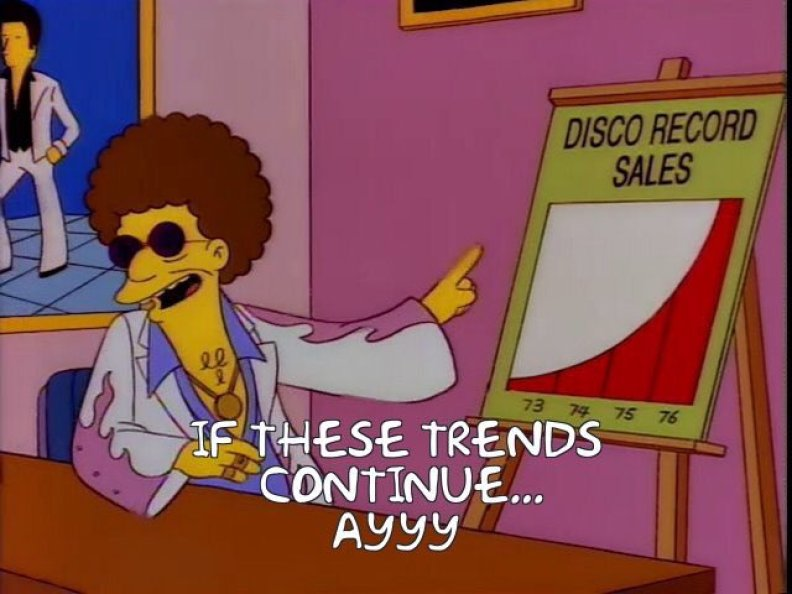 Disco Stu from The Simpsons
