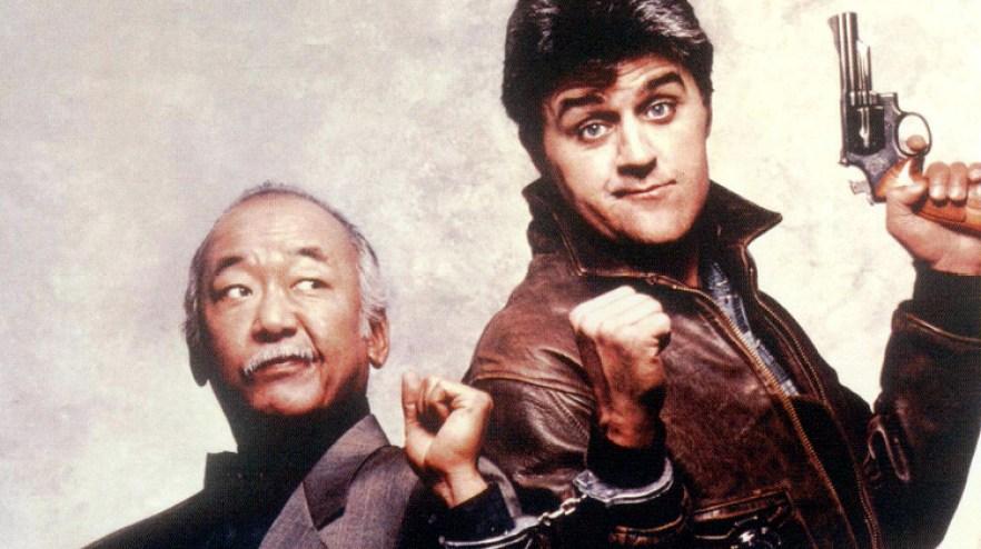 "Noriyuki ""Pat"" Morita and Jay Leno in Collision Course"