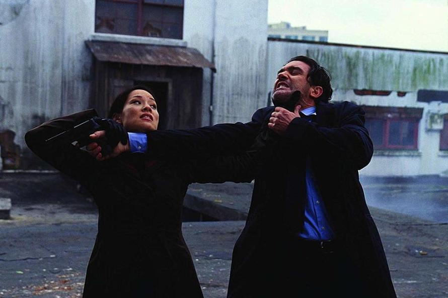 Lucy Liu and Antonio Banderas in Ballistic: Ecks vs. Sever