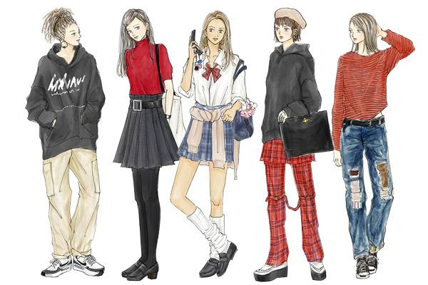 リバイバルして流行中! 「90年代ファッション」【イラストで解説】