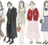 【イラストで解説】「80年代ファッション」とは。ハマトラ、カラス族、オリーブ少女
