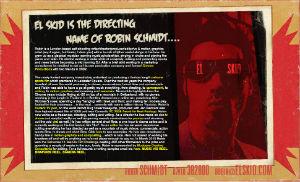 "Featured Filmmaker Friday – Robin ""El Skid"" Schmidt"