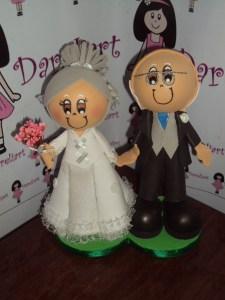 Noivinhos bodas de Ouro em Eva 3d - Dareliart