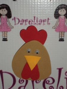 Aplique Galinha - Fazendinha - Dareliart (4)