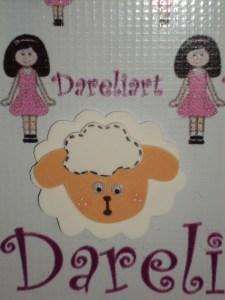 Aplique Ovelha - Fazendinha - Dareliart
