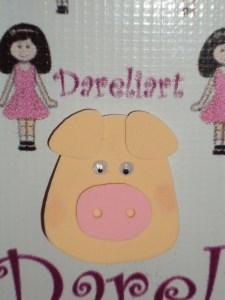 Aplique Porquinho - Fazendinha - Dareliart