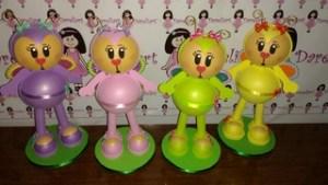 Bonecas Borboletinhas Coloridas kit Com 4 em Eva - Dareliart