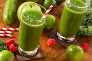Green juice for sugar cravings and colon cleansing
