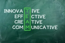 Chalk drawing - TEAM: innovative ,effective,creative,communocative