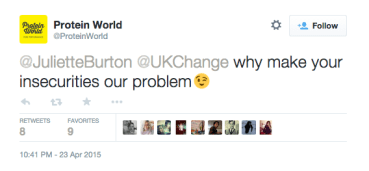 protein world BS tweet