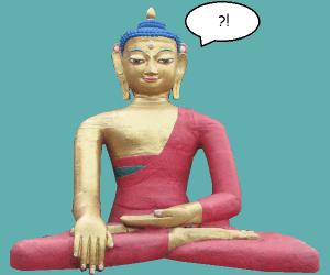 buddha question mark