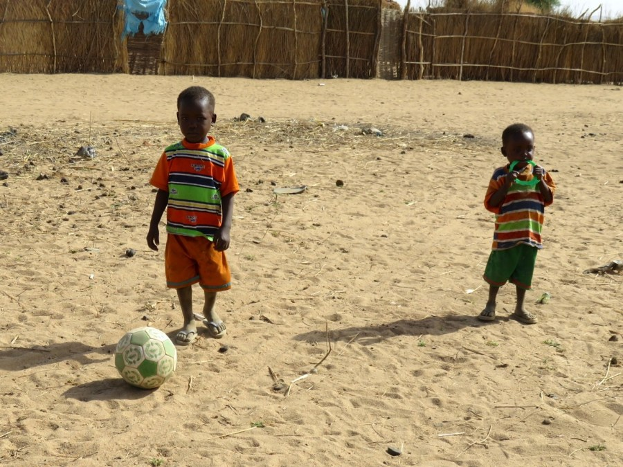 Refugee Camp Walking, Soccer Ball Dribbling Zen