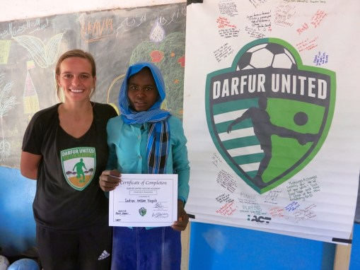 """Sadiya, age 18, """"I did not even know that you were coming and I never guessed you would pick me. I am so surprised. I would also like to travel to other camps with DUSA one day."""""""