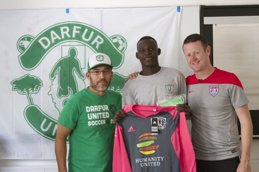 Gabriel Stauring, Ismail and Coach Mark Hodson, 2014.
