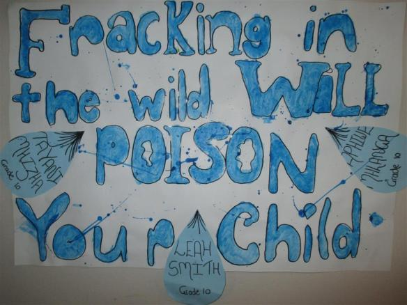 Poster - Fracking in the Wild will poison your child