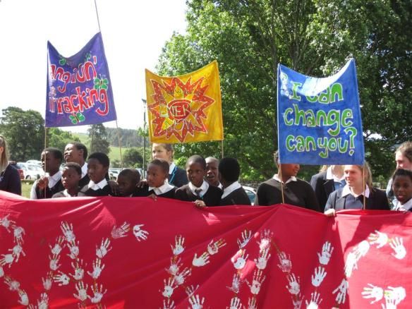 Local school children say no fracking