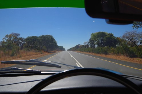 The beautiful road out of Livingstone.