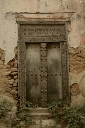Lovely old doors in a ruined building.