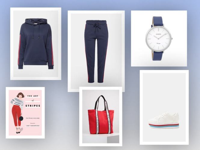 Casual outfit 1 - Fashion Notes | Rood, wit & blauw