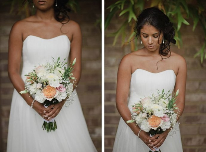 Formal, bride and flowers