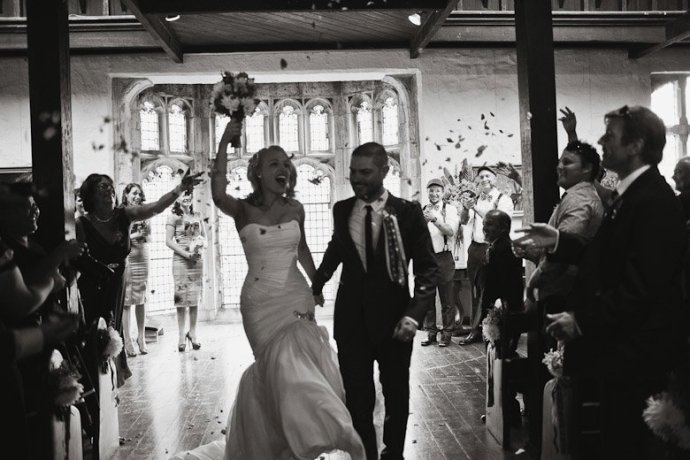 That is a happy walk down the aisle