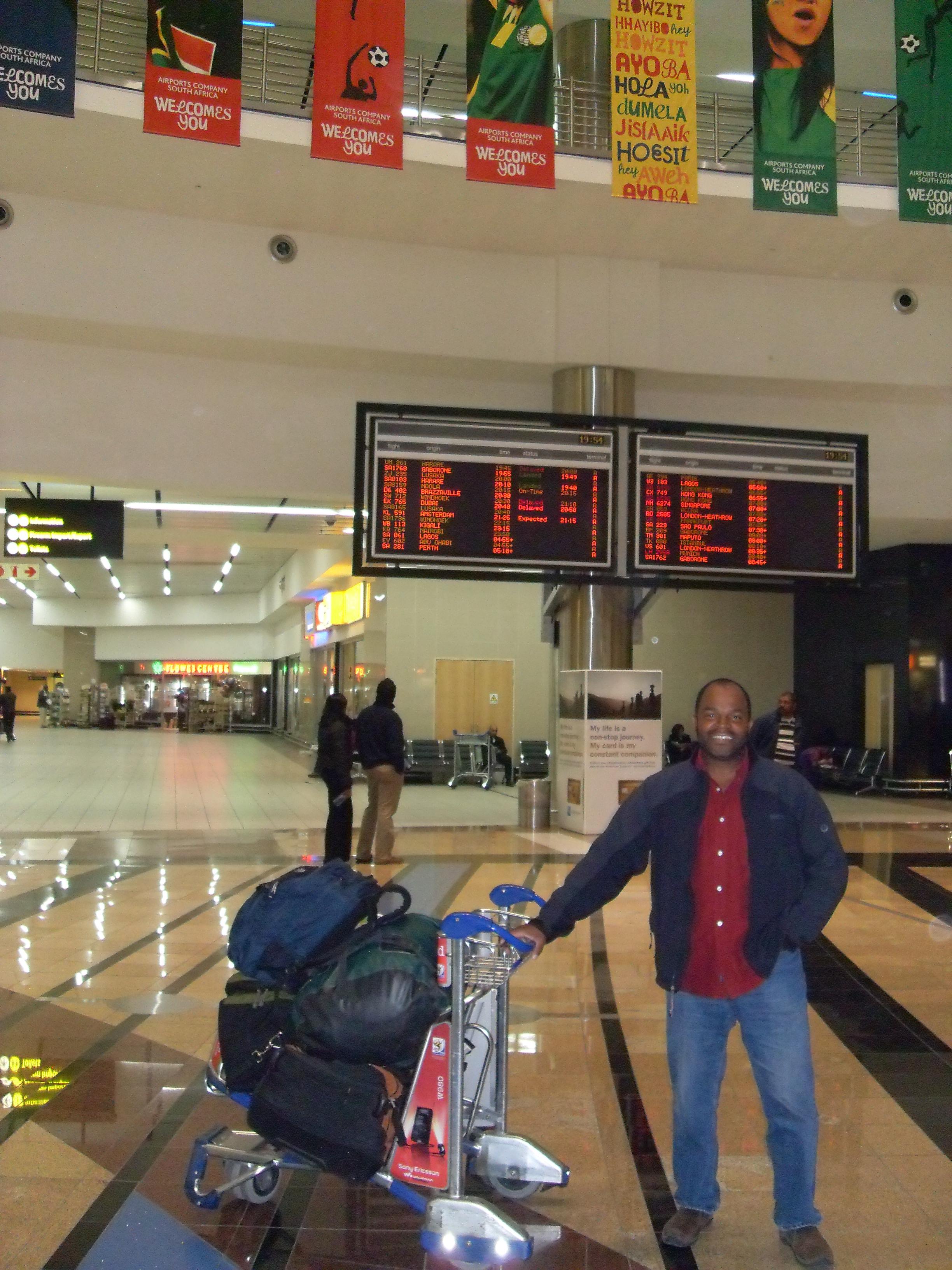 Delton arrives - Joburg Airport