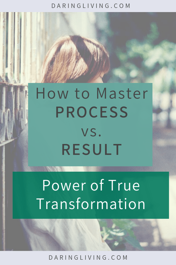 Often in our personal growth journey, we want to skip the process to get the result. We want the good grades, fit body, the dream job, a thriving relationship. Yet the journey feels so difficult. True transformation happens during the process not the result. #daringliving #transformation #personalgrowth #personaldevelopment #selfdevelopment #process #result #lifecoaching