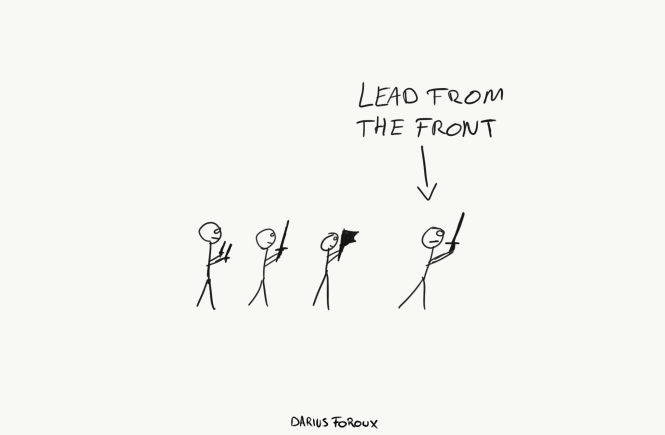 lead from the front
