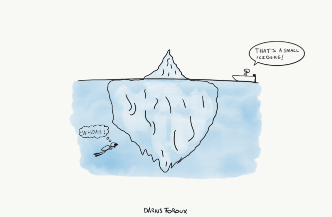 the habit of looking below the surface - iceberg