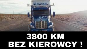Autonomiczna ciężarówka przejechała 3800 km bez kierowcy