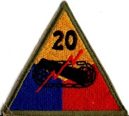 20th Armoured Patch